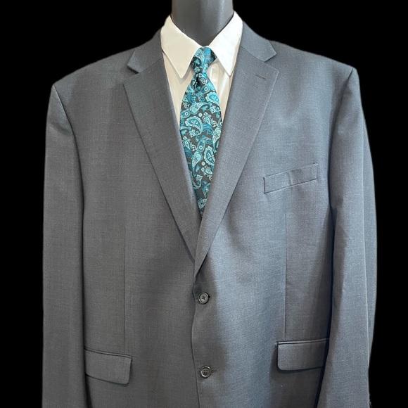 Lauren Ralph Lauren Grey 2 Button Wool Blazer